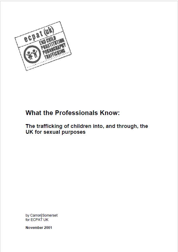 ECPAT UK What the professionals know