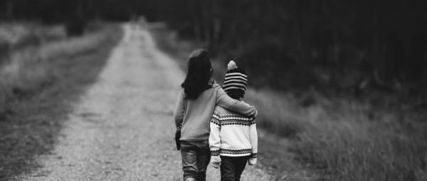 Children walking together